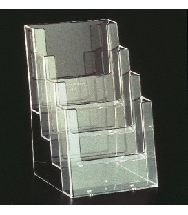 A5 Brochure Holder - Counter Standing 4 Pocket