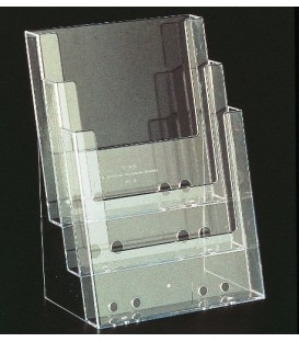 Brochure Holder - Counter Standing A4 x 3 Pocket