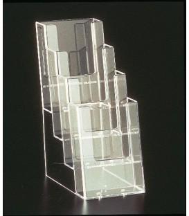 DL Brochure Holder - Counter Standing  4 Pocket
