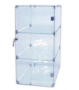 Glass Cube Showcase - 3 Level