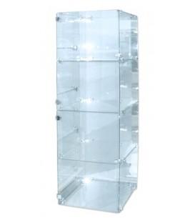 Glass Cube Showcase - 4 Level Tower