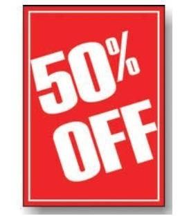 Sale Card: 50% OFF