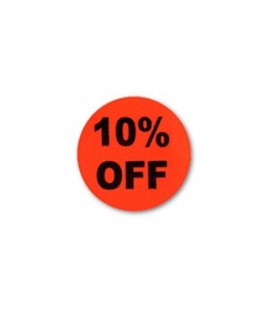 Adhesive Label: 10% OFF