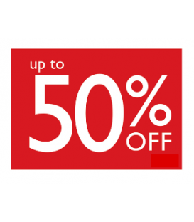 Sale Card: UP TO 50% OFF