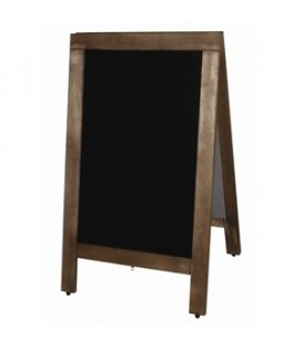 A-Frame: Blackboard with Wooden Frame -