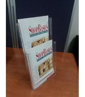 2 x A4 Counter Brochure Holder