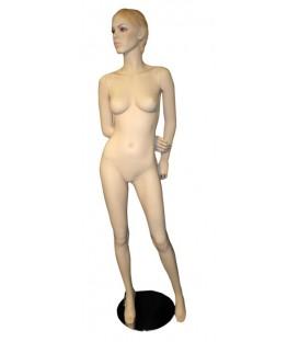 Mannequin Female - Sculpted Bob Hair - Arms Behind Back - Skintone