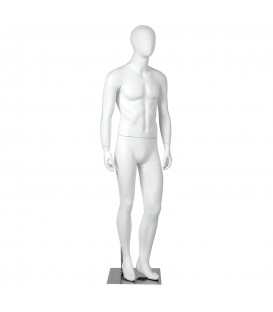 Budget Mannequin - Male 'Egg Head' - White