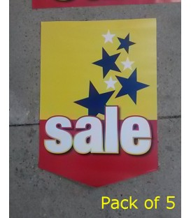 """Sale"" with stars Paper Banner"