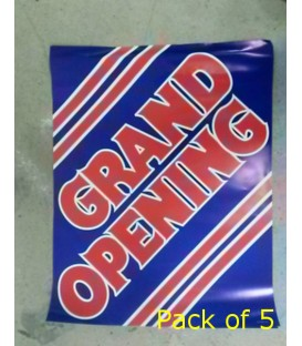"""""""Grand Opening"""" Small Paper Banner"""