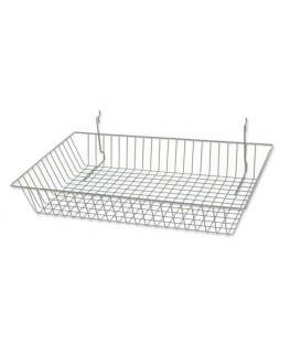 Large Chrome  Mesh Basket Slatgrid