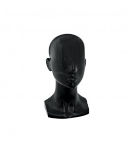 Fibreglass Head - Female BLACK