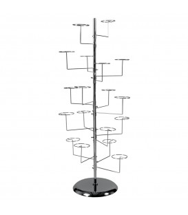 Hat Stand with 18 Hat Rings Chrome