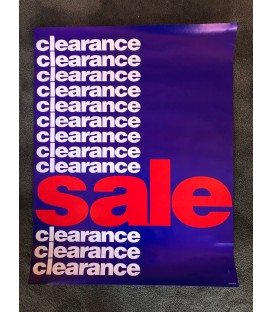 """""""Clearance"""" Poster"""