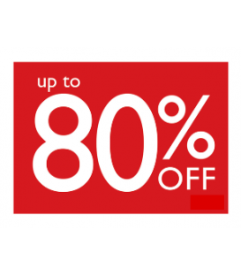 Sale Card: UP TO 80% OFF