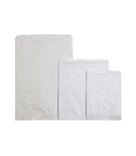 White Flat Paper Bags -