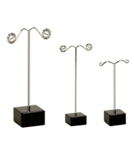 Earring Trees - Cube Base - Black