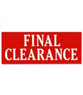 Banner: FINAL CLEARANCE