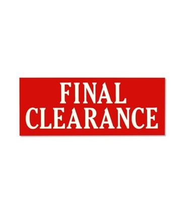 Banner: FINAL CLEARANCE