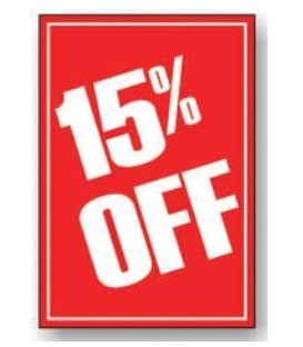 Sale Card: 15% OFF