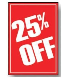 Sale Card: 25% OFF - A3- PKT 4