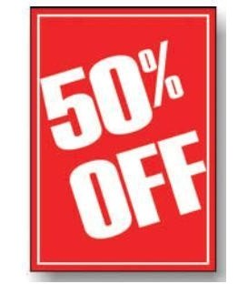 Sale Card: 50% OFF