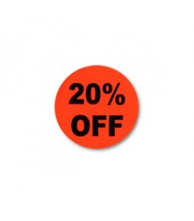 Adhesive Label: 20% OFF