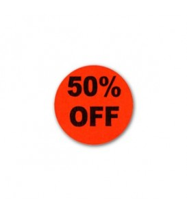 Adhesive Label: 50% OFF