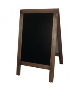 A-Frame: Large Blackboard with Wooden Frame -