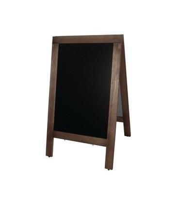A-Frame: Large Blackboard with Wooden Frame -