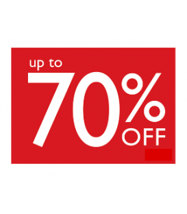 Sale Card: UP TO 70% OFF
