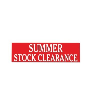 Banner: SUMMER STOCK CLEARANCE