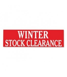 Banner: WINTER STOCK CLEARANCE