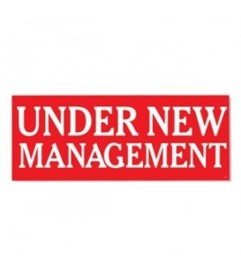 Banner: UNDER NEW MANAGEMENT