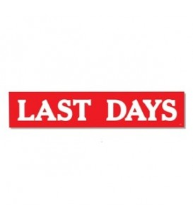 Banner: LAST DAYS