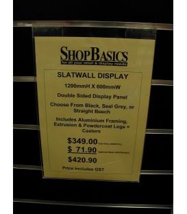 Signholder - Slatwall: A4 Portrait