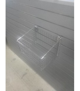 Small Mesh Basket for Slatwall