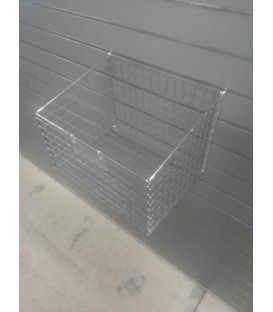 Large Mesh Basket for Slatwall