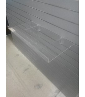 Acrylic Shelf with Lip 810mmW x 285mmD