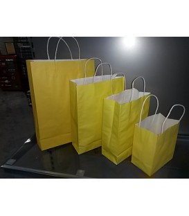 Yellow Paper Bags with Carry Handle
