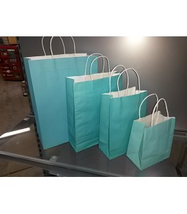 Blue Paper Bags with Carry Handle