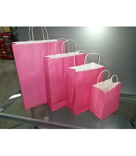 Purple Paper Bags with Carry Handle