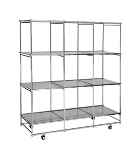 Mobile Cube Unit - 12 shelves
