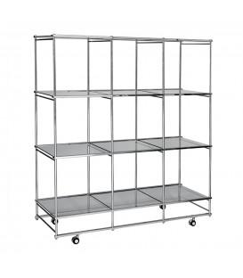 Mobile Cube Unit - 12 shelves