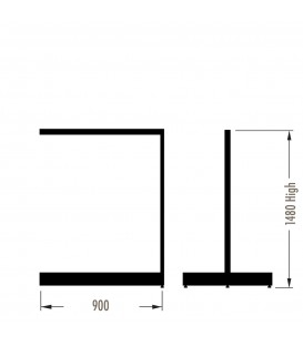 MAXe Gondola S3 Add-On Bay - Double Sided - 1480Hx900W - Black
