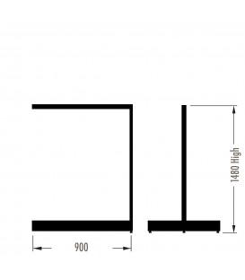 MAXe Gondola S3 Add-On Bay - Double Sided - 1480Hx900W - White