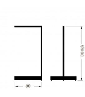 MAXe Gondola S3 Add-On Bay - Double Sided - 1800Hx600W - White