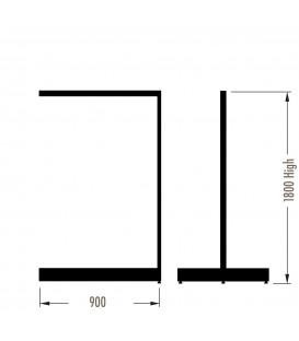 MAXe Gondola S3 Add-On Bay - Double Sided - 1800Hx900W - White