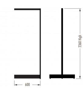 MAXe Gondola S3 Add-On Bay - Double Sided - 2360Hx600W - Black