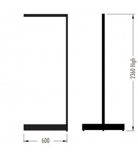MAXe Gondola S3 Add-On Bay - Double Sided - 2360Hx600W - White